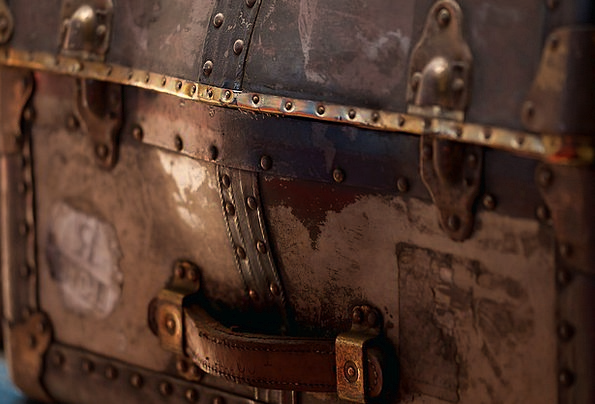 Luggage Baggage Ancient Used Rummage-sale Old Fitt