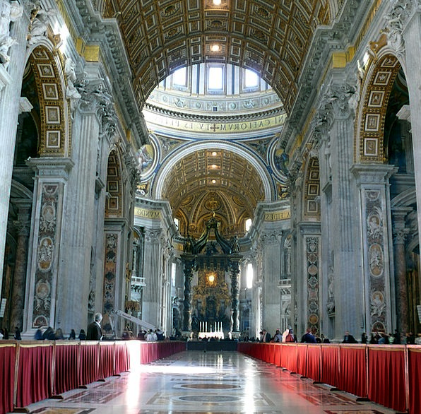 The Vatican Rome Cathedral Of St Peter The Basilic