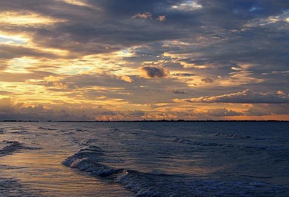 Beach Seashore Vacation Sundown Travel Clouds Vapo