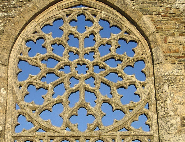 Rose Window Buildings Architecture France Languido