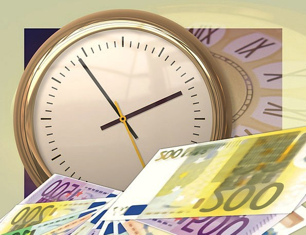 Clock Timepiece Finance Period Business Euro Time