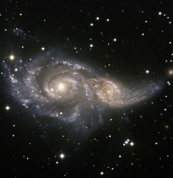 Ngc 2207 Light Year Spiral Galaxy All Gravitation
