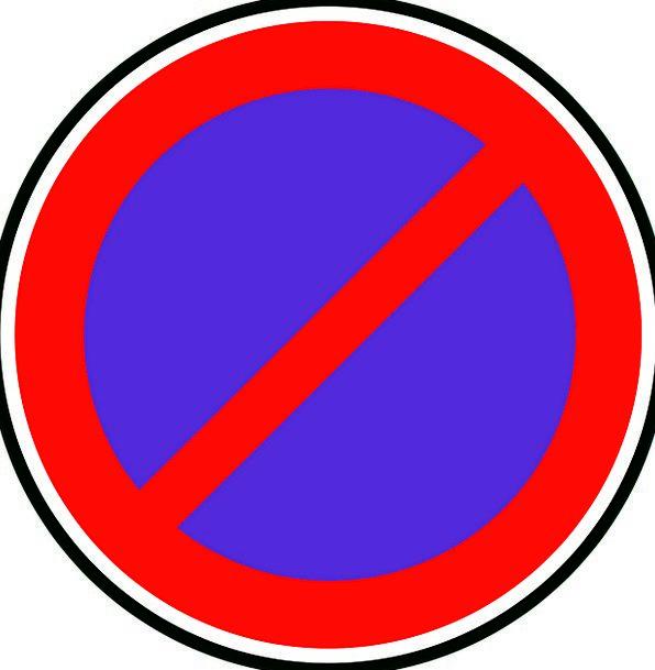 Sign Symbol Traffic Circulation Transportation No