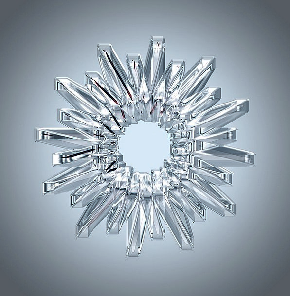 Crystal Mineral Bending Light Bright Refraction Cr