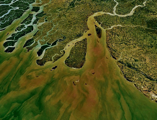 Ganges Land Terrestrial Aerial View Map Chart Atla