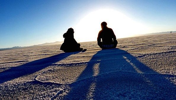 Salt Lake Freshwater Salt Flat Lake Resting Andes
