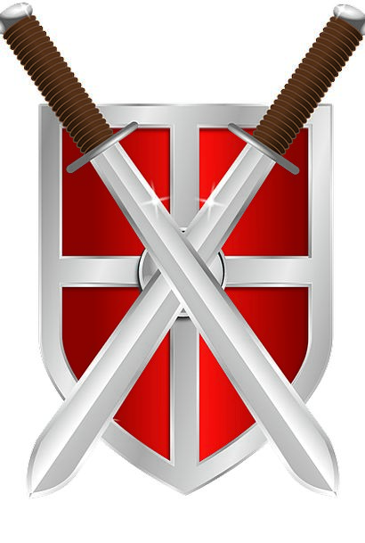 Shield Protection Sword Blade Crossed Swords Cross
