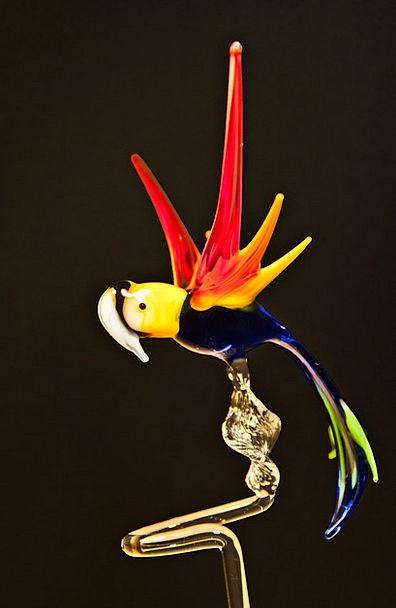 Parrot Imitator Cut-glass Arts Crafts Glass Glass