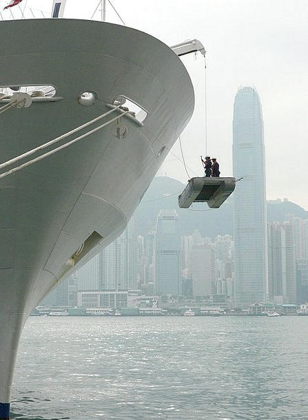 Ship Vessel Skyscraper Tower Hong Kong Suspended P