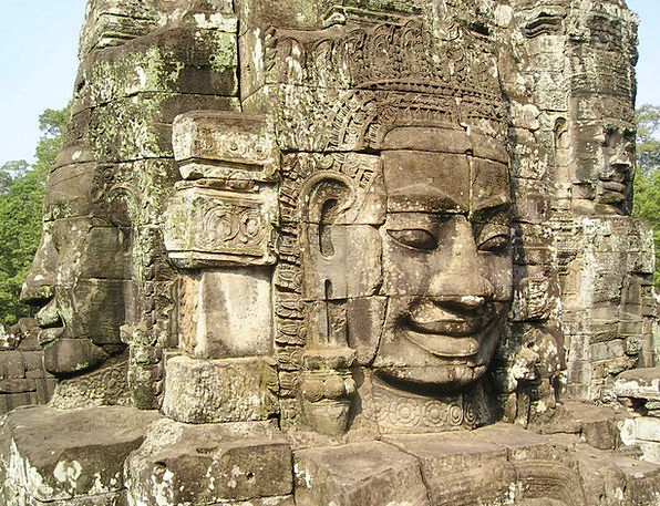 Angkor Cambodia Wat Statue Face Expression Asia St
