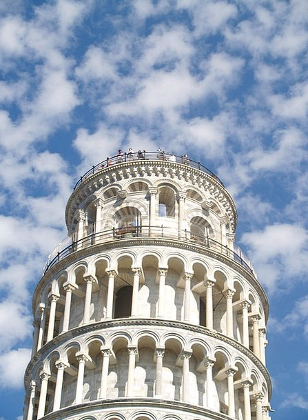 Italy Tower Barbican Pisa Sky Blue Monuments Build