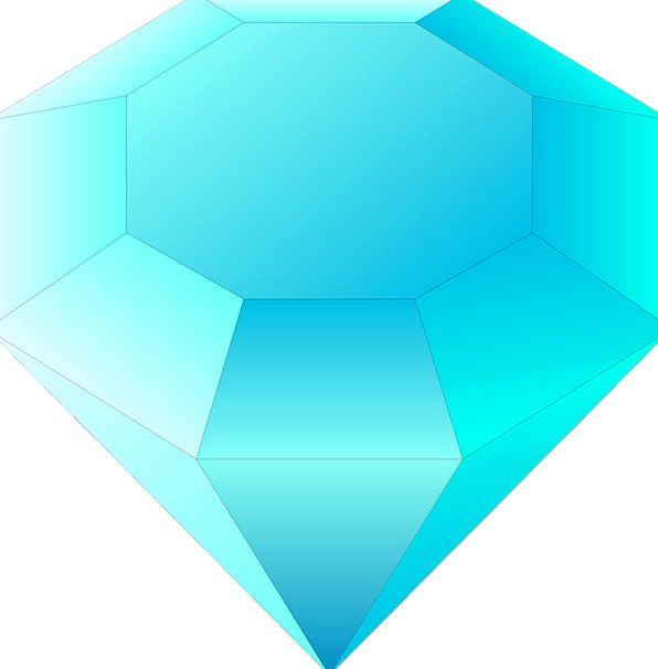 Gemstone Rhombus Blue Azure Diamond Gem Turquoise
