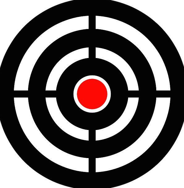 Target Board Aim Goal Bullseye Sniper Arrow Missil