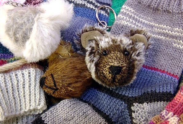 Keychain Tolerate Soft Toy Teddy Bear Purry Socks