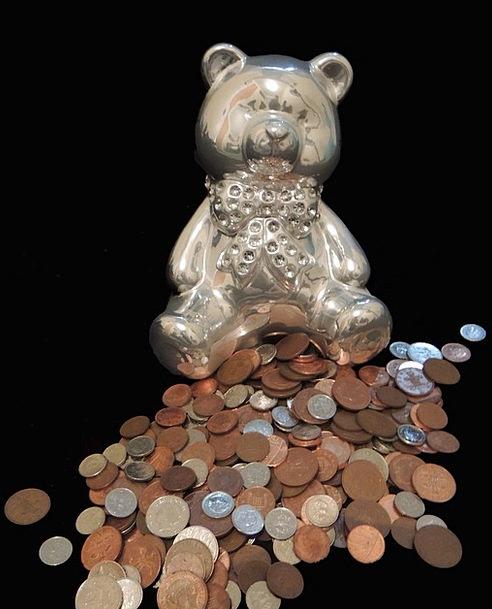 Piggy Bank Finance Business Coins Changes Teddybea
