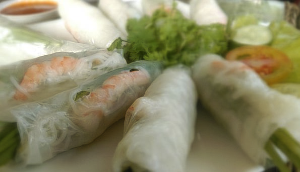 Spring Rolls Drink Nourishment Food Vietnam Food C