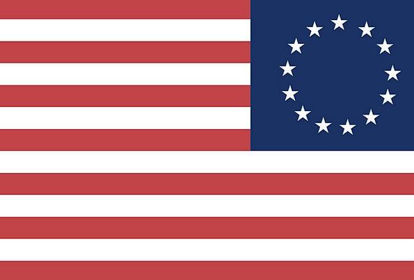 Ross Flag Standard Historic Important Flag Revolut