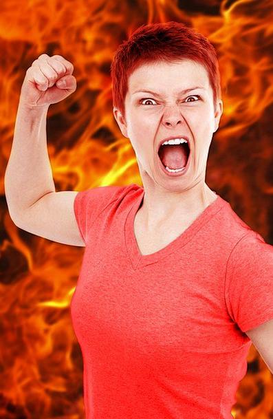 Anger Annoyance Annoyed Bad Angry Girl Burn Injury