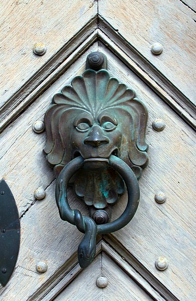 Doorknocker Figurine Metal Metallic Bronze Door Ha