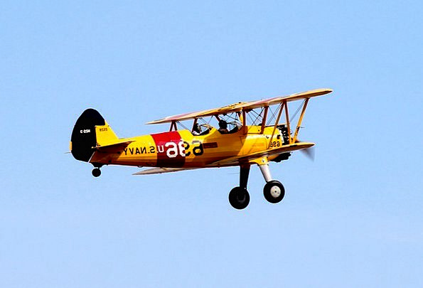 Biplane Aircraft Oldtimer Airplane Yellow Creamy P