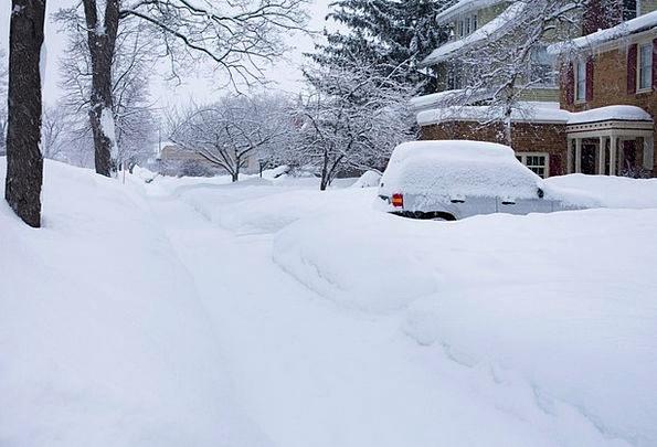 Deep Snow Traffic Season Transportation Michigan W