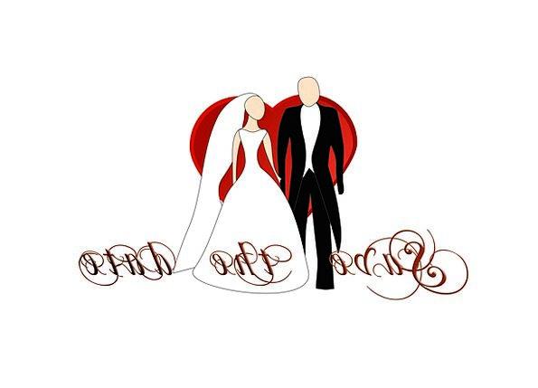 Wedding Bridal Couple Bride Wife Pair Time Broom B