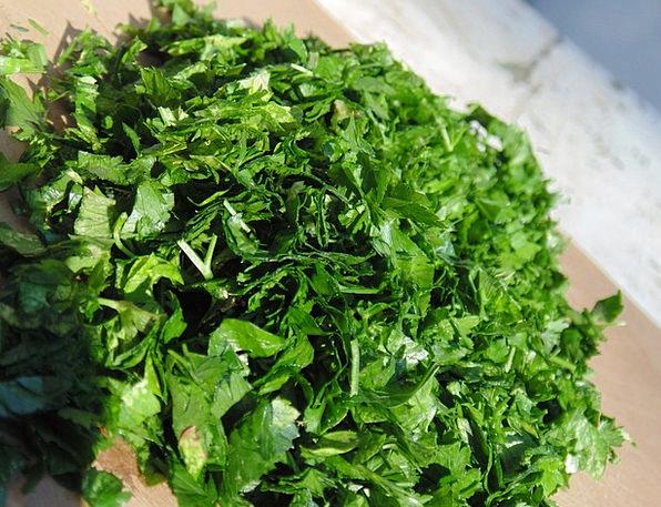 Parsley Basil Lime Chopped Parsley Green