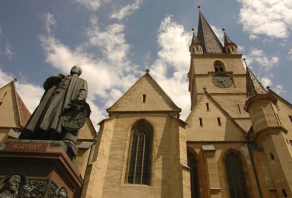 Sibiu Ecclesiastical Statue Figurine Church Gothic