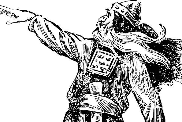Viking Soldier Pointing Mortar Warrior Free Vector
