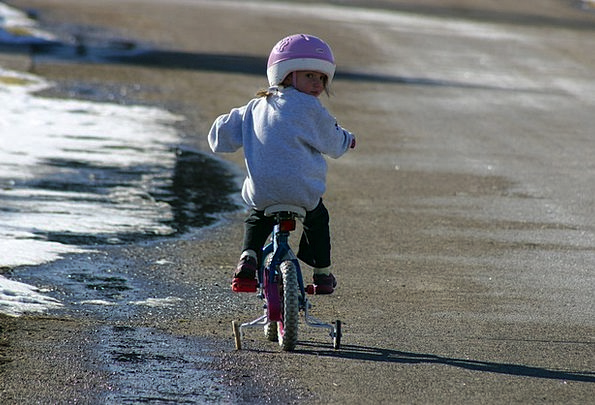 Bicycle Lassie Biking Girl Activity Bike Motorbike