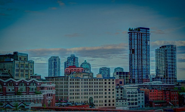 Vancouver Buildings Architecture Skyline Horizon C