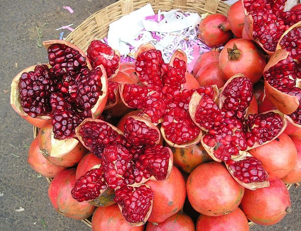 India Drink Food Colorful Interesting Pomegranate