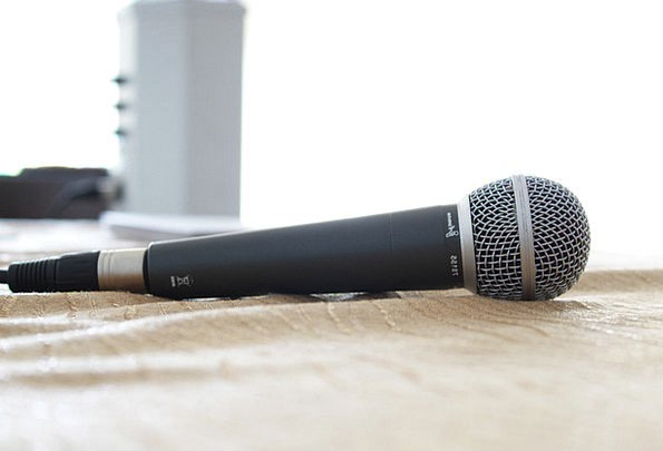 Microphone Recording Footage Sound Studio Music Me