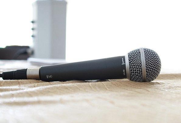 Microphone Recording Footage Sound Studio Music Me