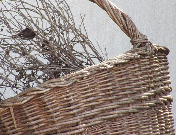 Basket Bag Interlaced Wicker Cane Woven Decorative
