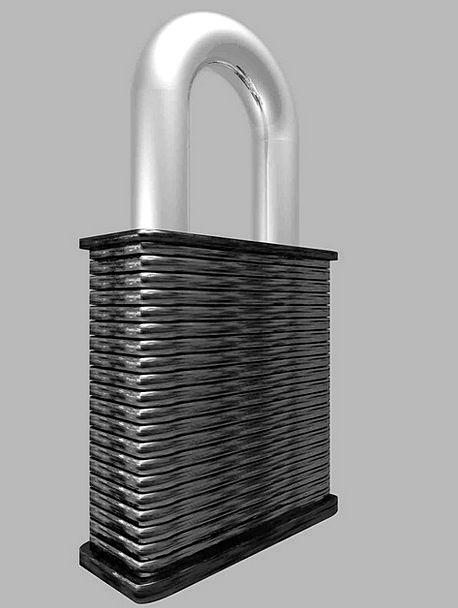 Lock Steel Strengthen Hasp Padlock Metal Metallic