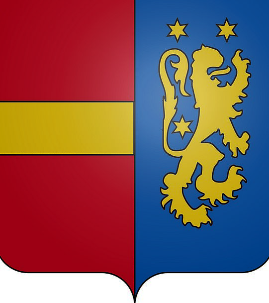 Coat Of Arms Crest Lion Orp-Jauche Star Interstell