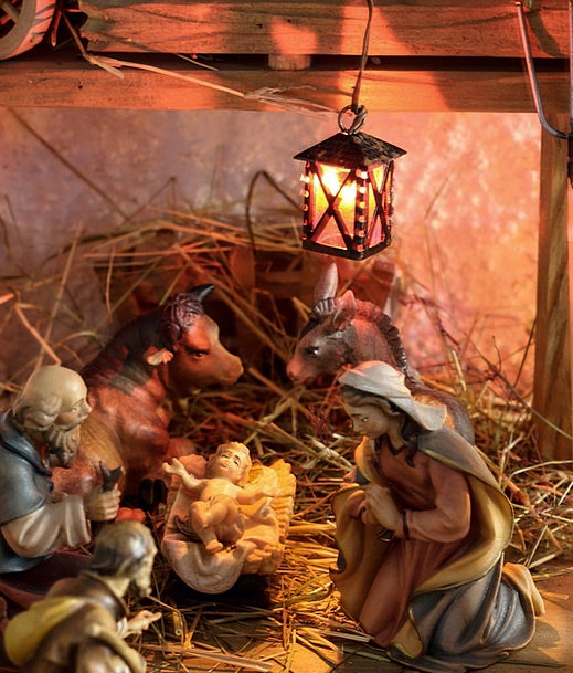 Crib Cheat Father Christmas Christmas Nativity Sce