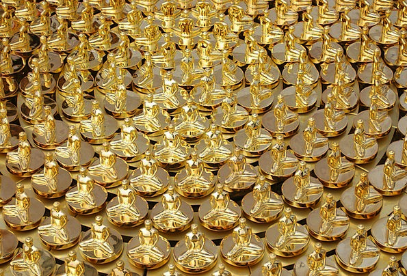 Buddhas Gilded Buddhism Gold Dhammakaya Pagoda Wat