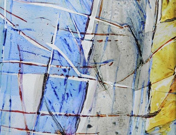 Glass Cut-glass Interesting Blue Azure Colorful Pa