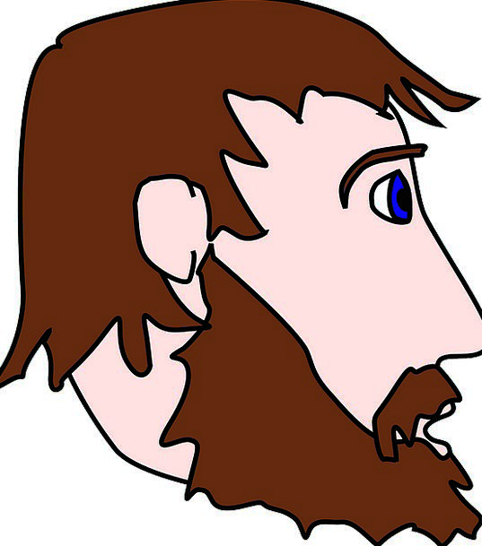 Beard Goatee Gentleman Profile Outline Man Head Sk