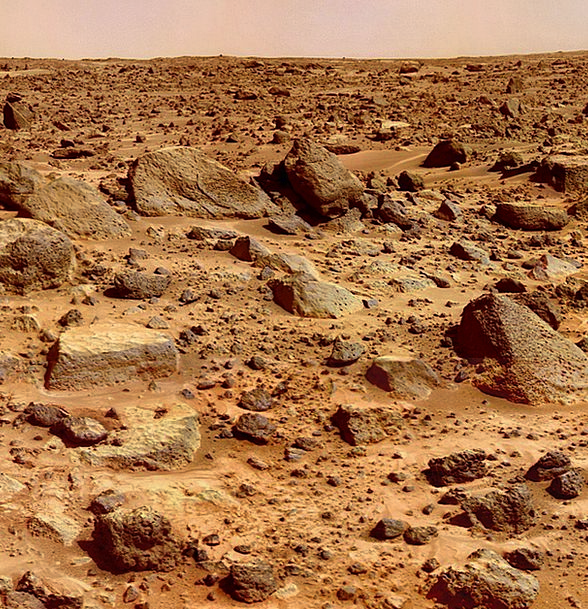Mars Defaces Earth Surface Superficial Planet Spac