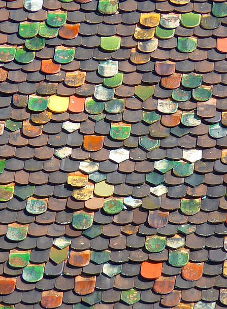 Tile Inlay Buildings Rooftop Architecture Roofing