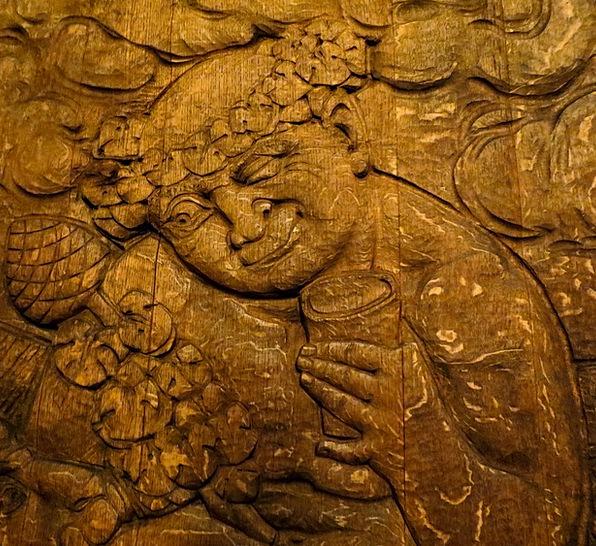 Carving Model Cellar Basement Bacchus Wooden Barre