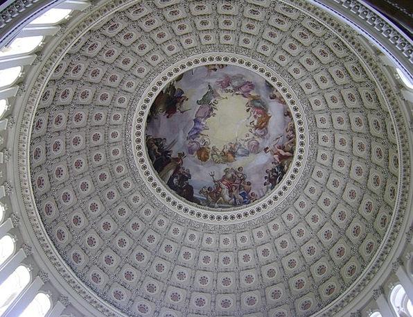 Us Capitol Dome Rotunda Pavilion Cupola Washington