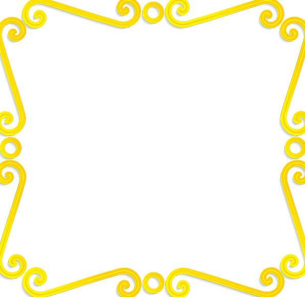 Border Edge Gilded Decorative Ornamental Gold Vine