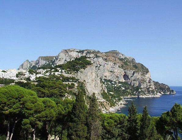 Sea Marine Shore Rocky Stony Coast Italy Cliff Pre