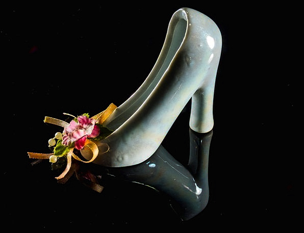 High Heeled Shoe Kid Shoe Frauenschuh Porzelanschu