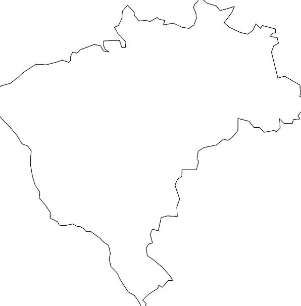 Brazil Republic Map Chart Country Geography Topogr