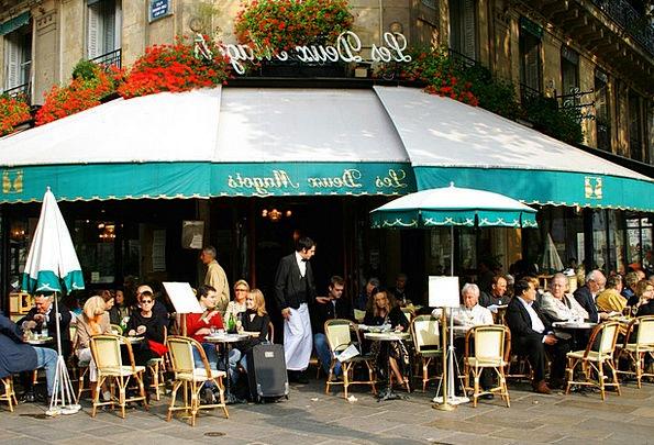 Café Teashop Traffic Transportation France Paris W